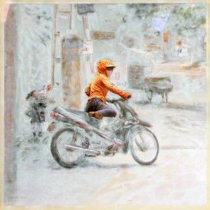 Vietnam - Motobike girl-Ninh Binh